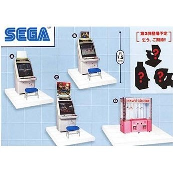 Bokuno Game Center Miniature Vol.1: Type D New UFO Catcher in pink featuring Sonic the Hedgehog
