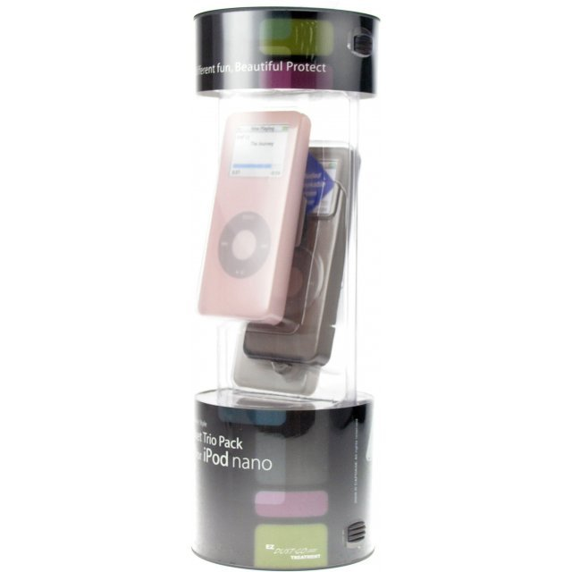 Capdase Soft Jacket Trio Pack (Tinted Black / White / Pink) iPod Nano