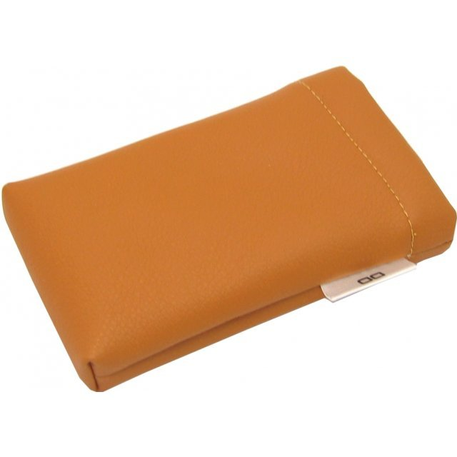 Lite Slipon Like Leather Pouch - brown