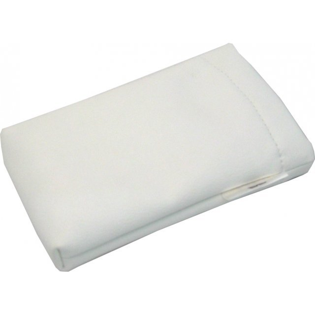 Lite Slipon Like Leather Pouch - white