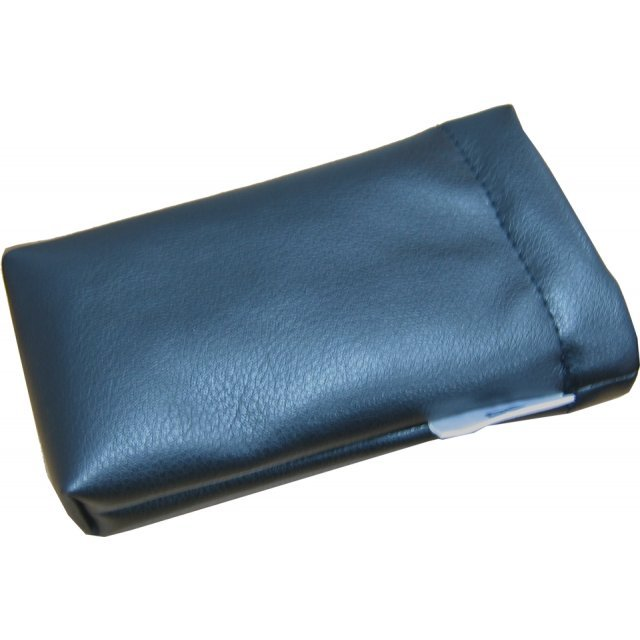 Lite Slipon Like Leather Pouch - black