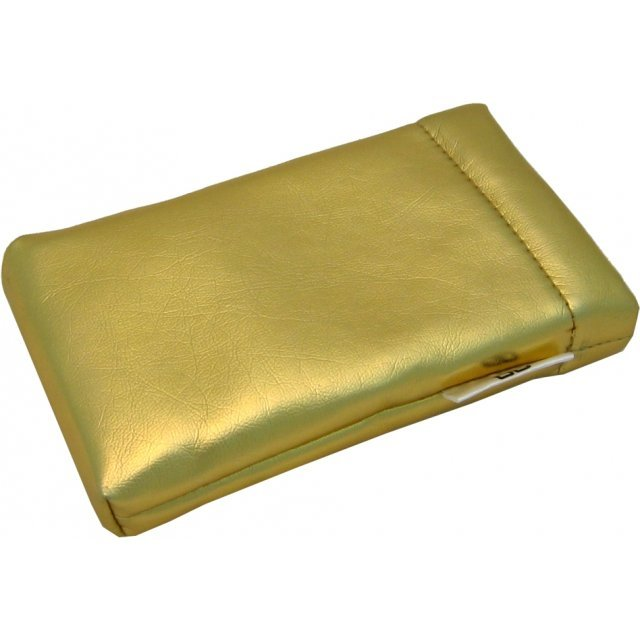 Lite Slipon Like Leather Pouch - gold