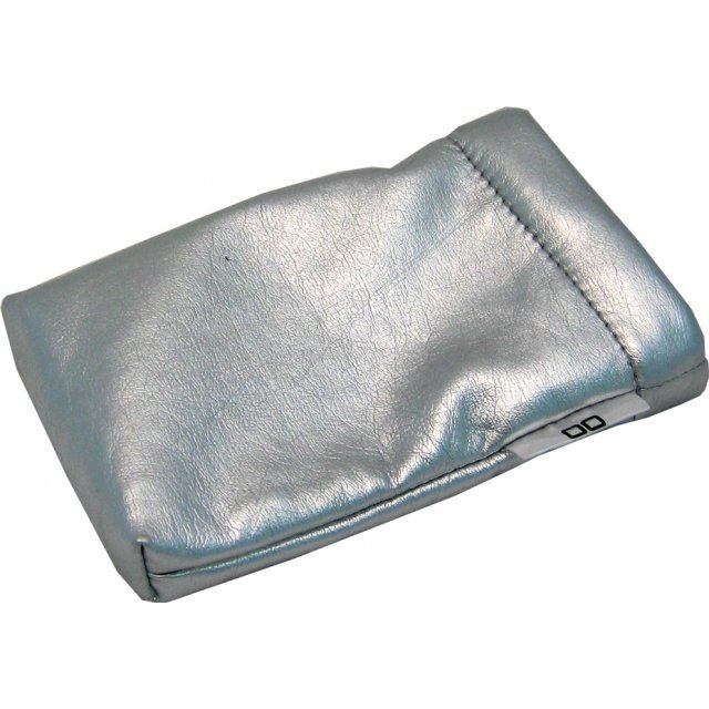 Lite Slipon Like Leather Pouch - silver