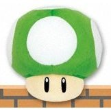 Super Mario 64 DS Plush Doll: 1Up Mushroom