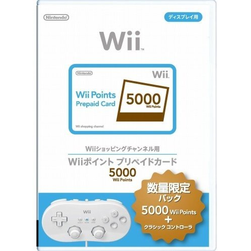 Wii Points Prepaid Card (5000 Wii Points / for Japanese network only) +  Wii Classic Controller