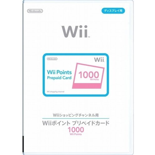 Wii Points Prepaid Card (1000 Wii Points / for Japanese network only)