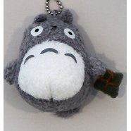 Sun Arrow Tonari no Totoro Mascot Key Chain: Fluffy Big Totoro (Grey Colour)