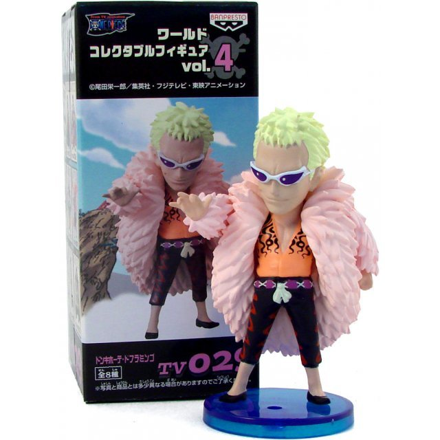 One Piece World Collectable Pre-Painted PVC Figure vol.4: TV029 - Donquixote Doflamingo