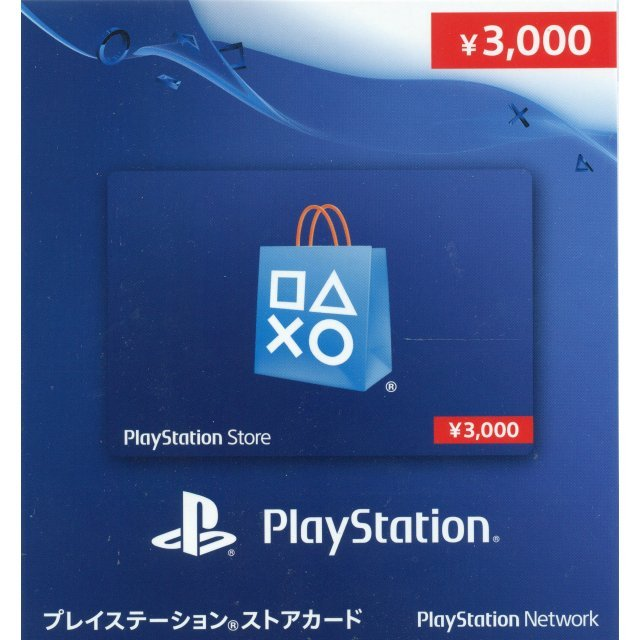 PlayStation Network 3000 YEN PSN CARD JP