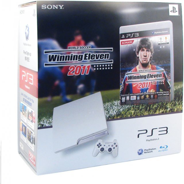 PlayStation3 Slim Console - World Soccer Winning Eleven 2011 Value Pack (HDD 320GB Classic White Model) - 220V