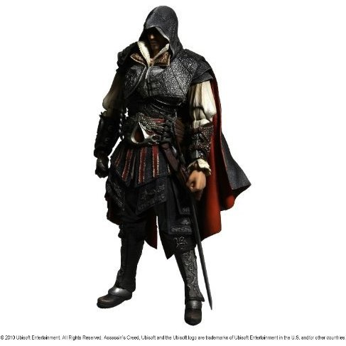 Assassin's Creed 2 Play Arts Kai Pre-Painted Action Figure: Ezio Auditore Da Firenze (Re-run)