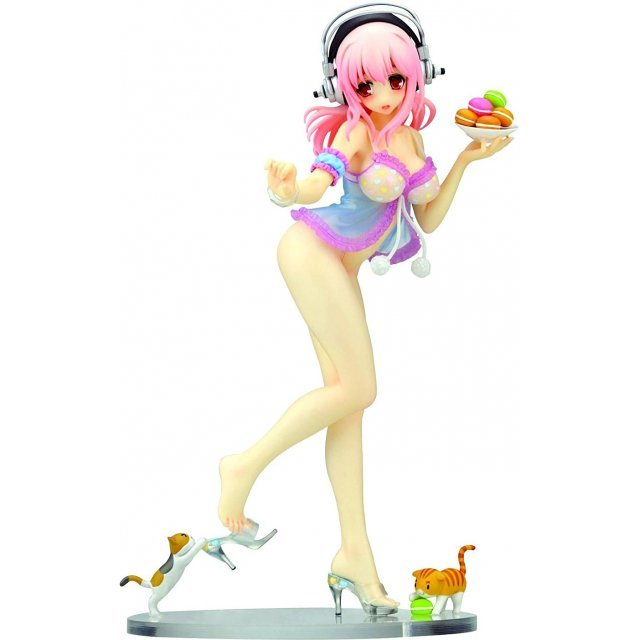 Creators Labo No 28 Nitro Super Sonic Non Scale Pre-Painted PVC Figure: Super Sonico Babydoll Ver. (Re-run)