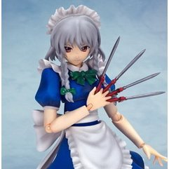 Figutto! Touhou Project Non Scale Pre-Painted PVC Figure:  Izayoi Sakuya