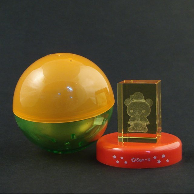 Rilakkuma 3D Art  Crystal Gashapon