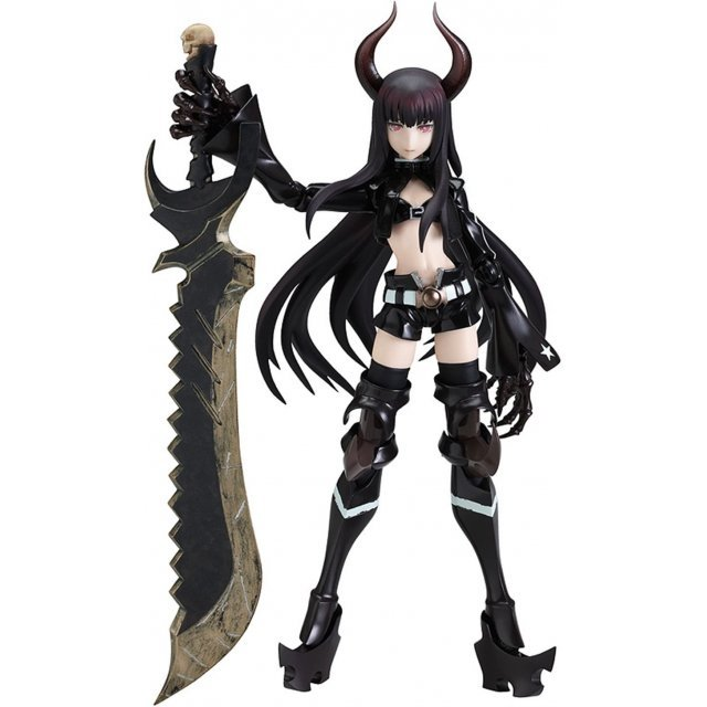 Black Rock Shooter Non Scale Pre-Painted PVC Figure: figma Black Gold Saw
