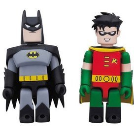 DC Comics 75th Anniversary Kubrick 2 Pack Series: Batman & Robin Animated Ver.