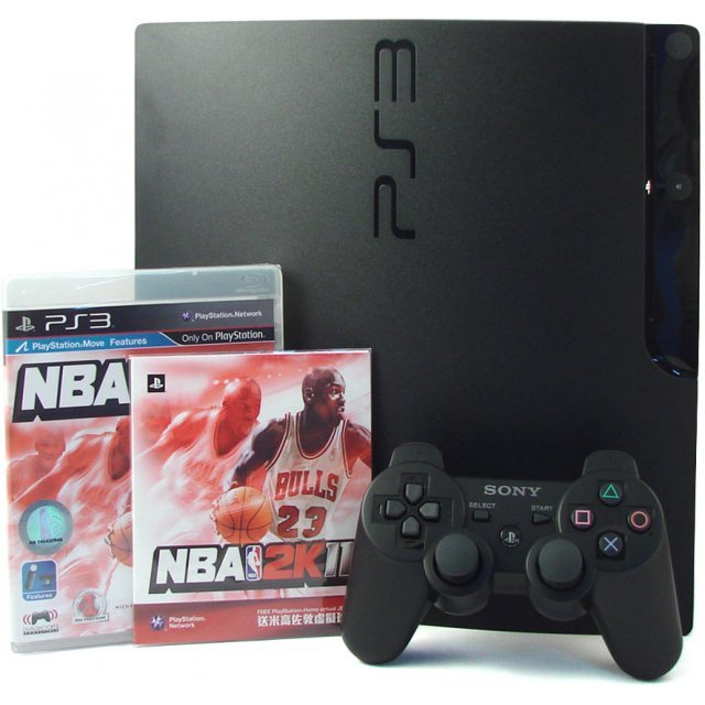 PlayStation3 Slim Console - NBA 2k11 Value Pack (HDD 160GB Black Model) - 220V