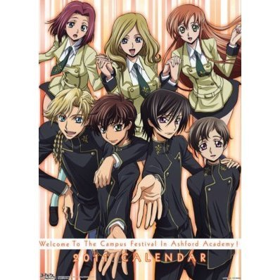 Anime Calendar 2011: Code Geass Lelouch of the Rebellion R2