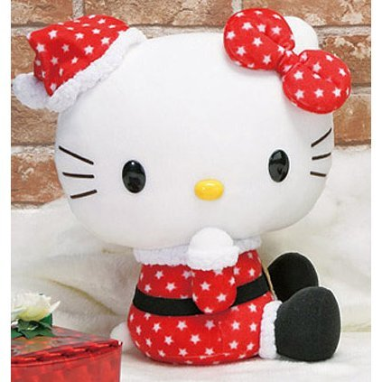 Hello Kitty Plush Doll: Santa Kitty Asst 1