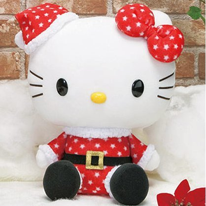 Hello Kitty Plush Doll: Santa Kitty Asst 2