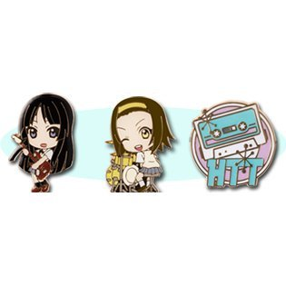K-On! Ichiban Kuji Pins Set Asst 2: Yui & Mugi