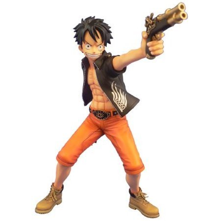 One Piece - Door Painting Collection 1/7 Scale Pre-Painted Figure: Monkey D. Luffy The Three Musketeers Ver.
