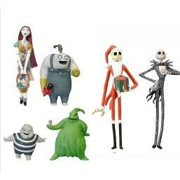 The Nightmare Before Christmas Pre-Painted Desktop PVC Figure (6 pieces)