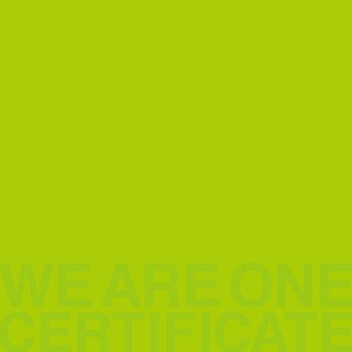 We Are One - Certificate