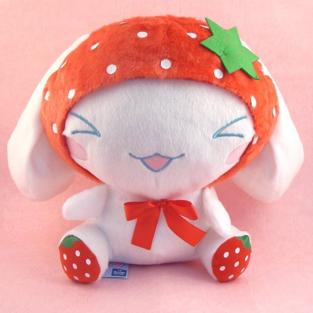Cinnamoroll Fruits Plush Doll: Red Strawberry Cinnamoroll