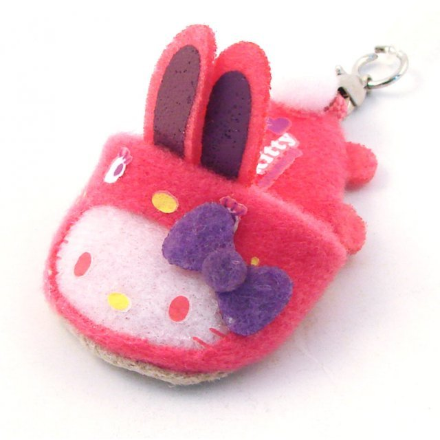 Bandai Hello Kitty Screen Cleaner Strap (Pink Rabbit Version)