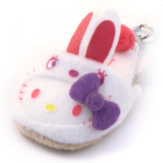 Bandai Hello Kitty Screen Cleaner Strap (White Rabbit Version)