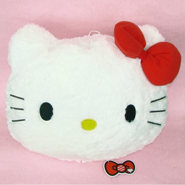 Fluffy Hello Kitty Cushion: Kitty Red Ribbon Ver.