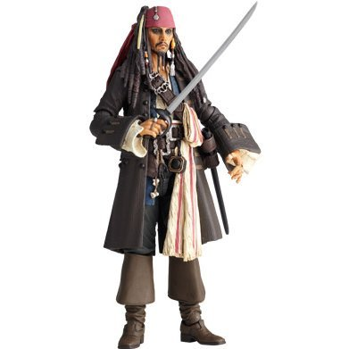 SCI-FI Revoltech Series No.025 - Pirates of the Caribbean Non Scale Pre-Painted PVC Figure: Jack Sparrow
