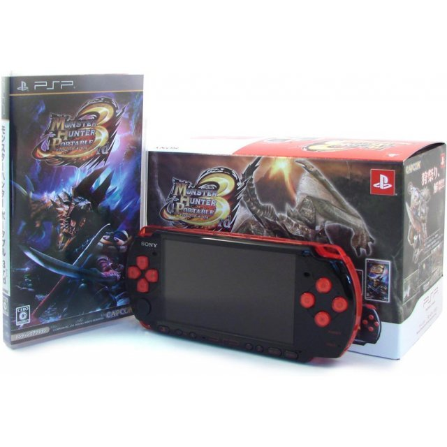 Monster Hunter Portable 3rd Special Model - Black/Red  (PSP-3000 Bundle)