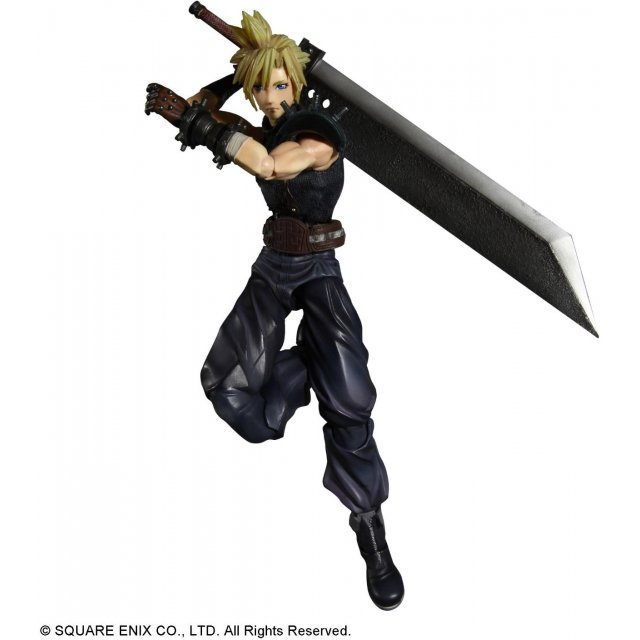 Dissidia Final Fantasy Play Arts Kai Pre-Painted Action Figure: Cloud