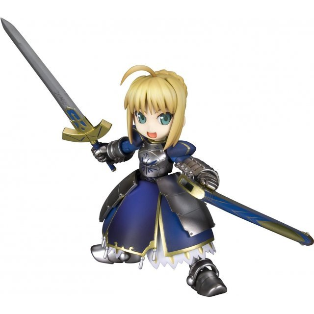 Fate/stay night Non Scale Pre-Painted Plastic Model Figure: Saber-san (Re-run)