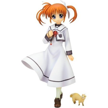 Magical Girl Lyrical Nanoha The Movie 1st 1/7 Scale Pre-Painted  PVC Figure: Takamachi Nanoha School Uniform Ver.
