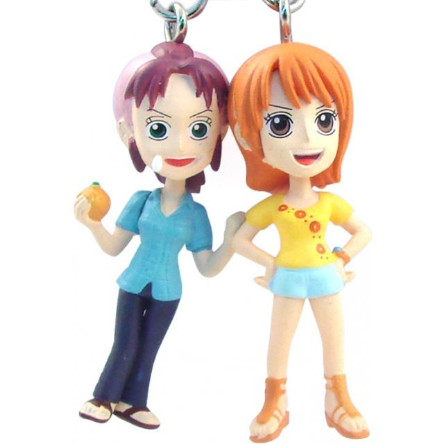 Banpresto One Piece Pre-Painted PVC Twin Key Chain Vol. 1: Nami + Bellemere