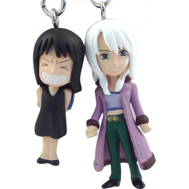 Banpresto One Piece Pre-Painted PVC Twin Key Chain Vol. 1: Robin + Olvia