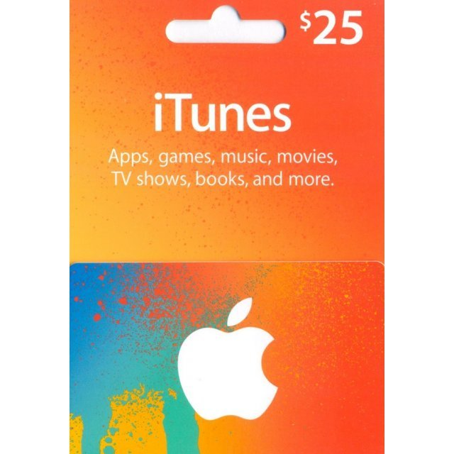 iTunes Card (US$ 25 / for US accounts only)