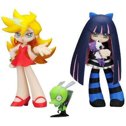 Twin Pack+ Panty & Stocking with Garterbelt Non Scale Pre-Painted PVC Figure: Panty & Stocking with Chuck