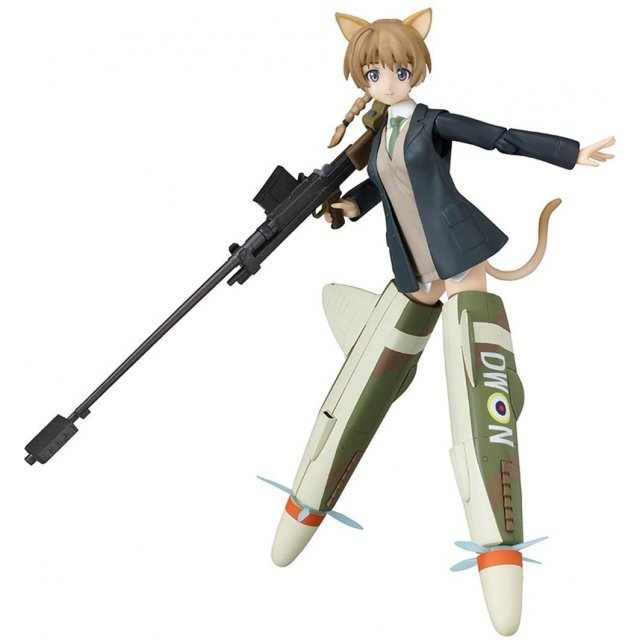 Strike Witches Non Scale Pre-Painted PVC Figure: figma Lynette Bishop