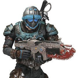 Gears of War 2 Pre-Painted Action Figure: Cog Soldier