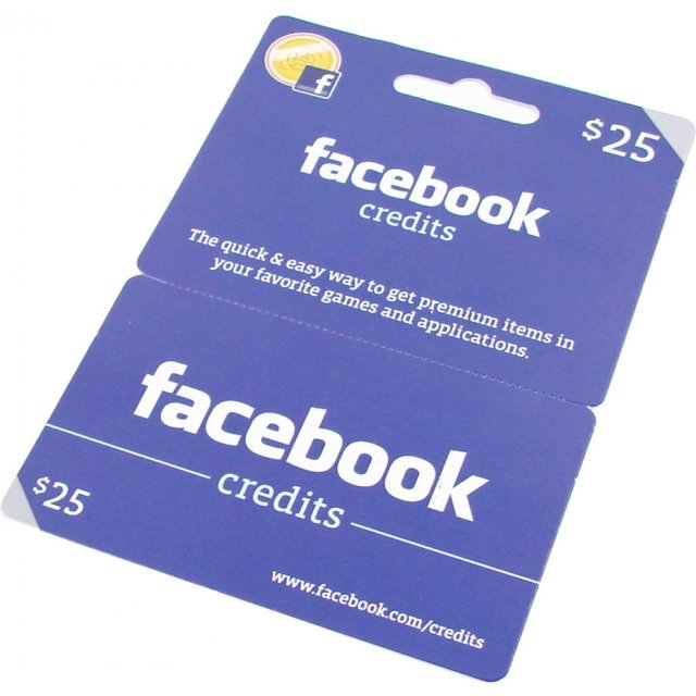 Facebook Card (US$ 25 / for US accounts only)