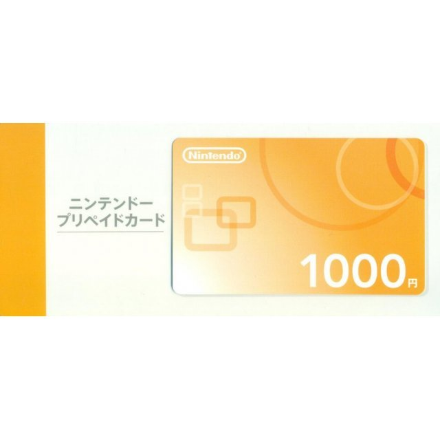 Nintendo Network Card / Ticket (1000 YEN / for Japanese network only) [retail packing]