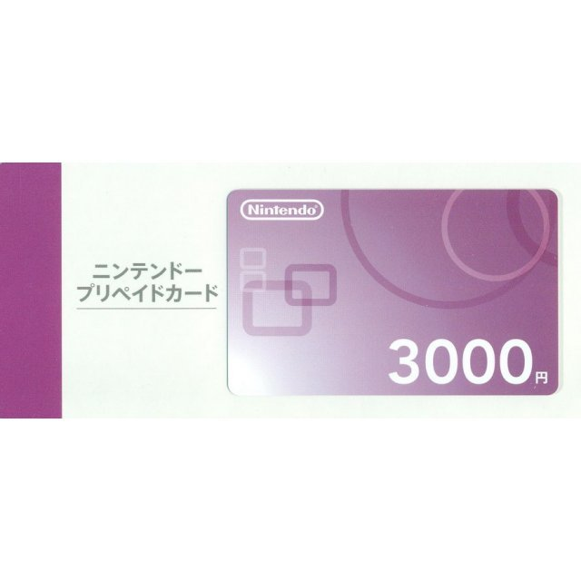 Nintendo Network Card / Ticket (3000 YEN / for Japanese network only) [retail packing]