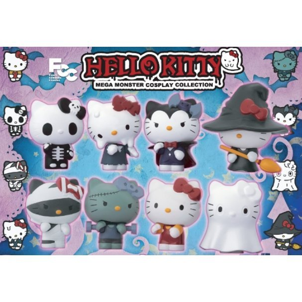 Hello Kitty Mega Monster Cosplay Collection Pre-Painted PVC Mini Figure Set