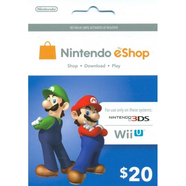 Nintendo Prepaid Card (US$20 / for US network only)