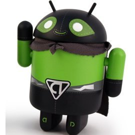 Google Android Non Scale Pre-Painted Vinyl Mini Collectible Series Special Edition: El Poderoso (Hero)