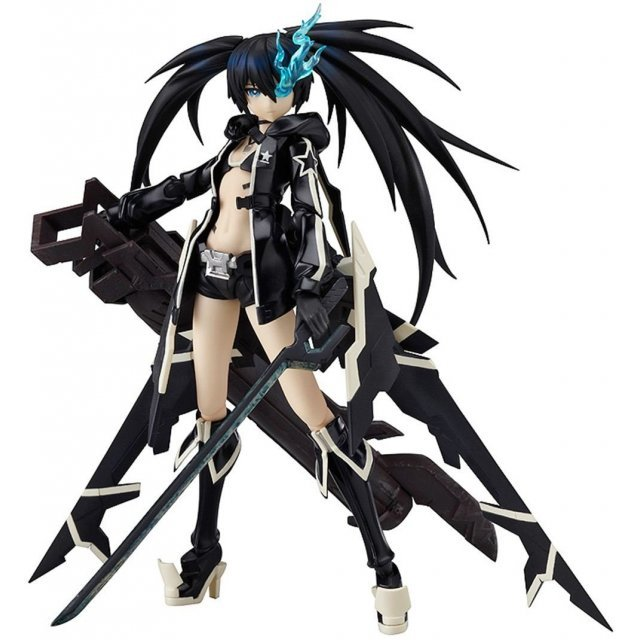 Black Rock Shooter Non Scale Pre-Painted PVC Figure: figma BRS2035